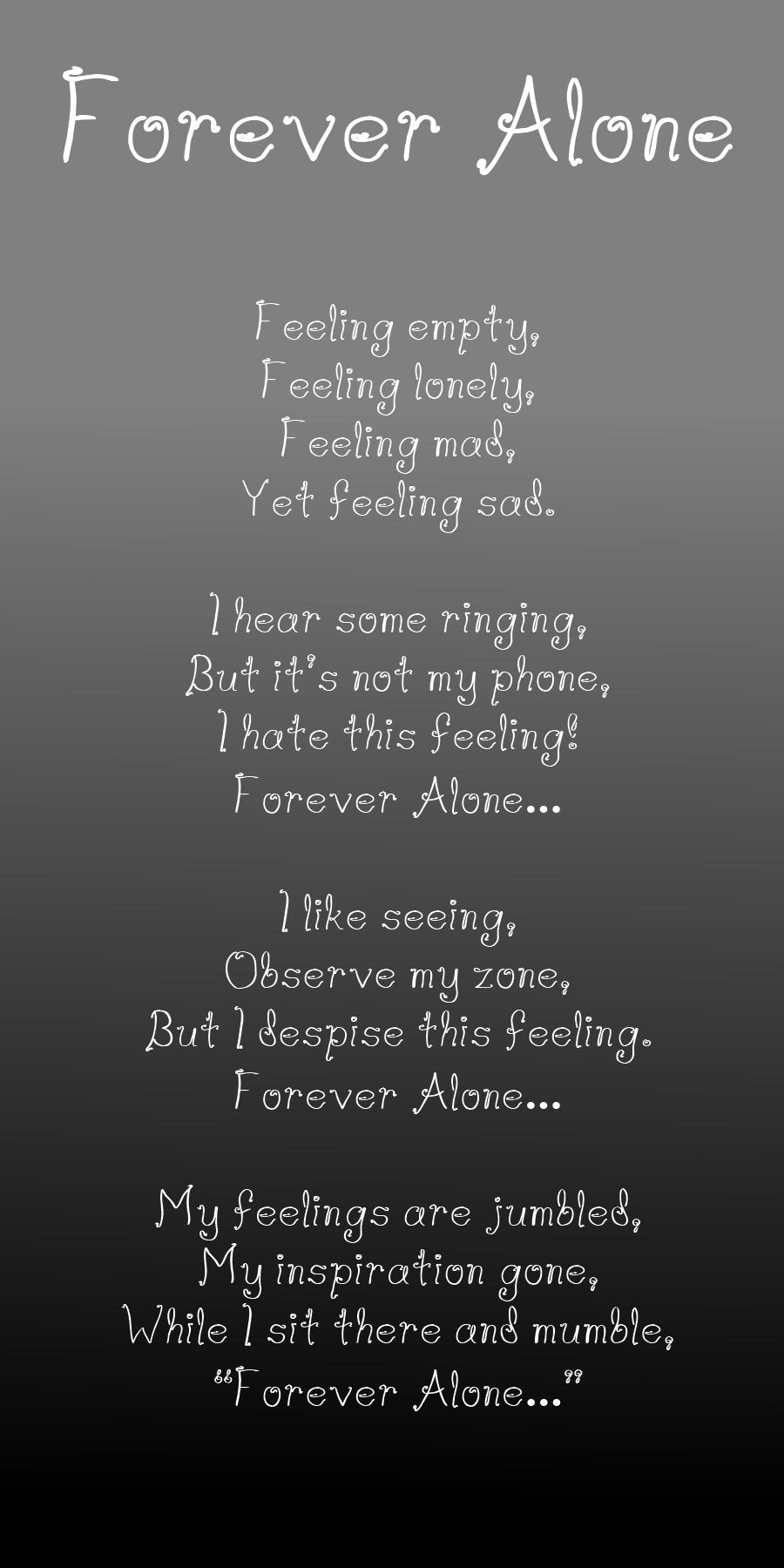 Being Alone Sad Quotes: Forever Alone Sad Quotes. QuotesGram