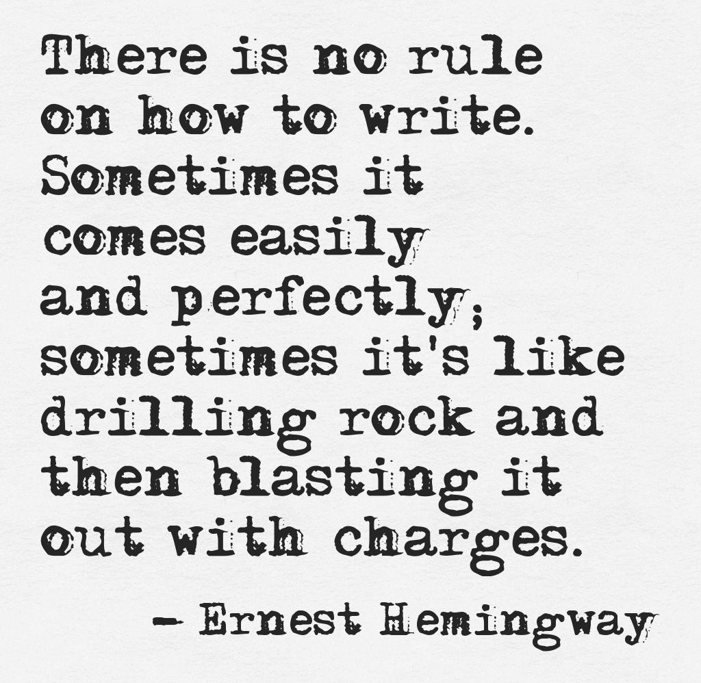 On Writing (Hemingway)