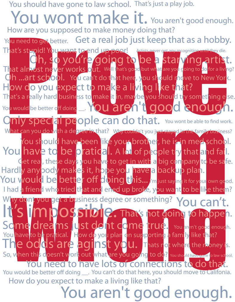 proving them wrong There will be haters, doubters, non-believers,and then there will be you,proving themwrong motivational alarm clocks  .