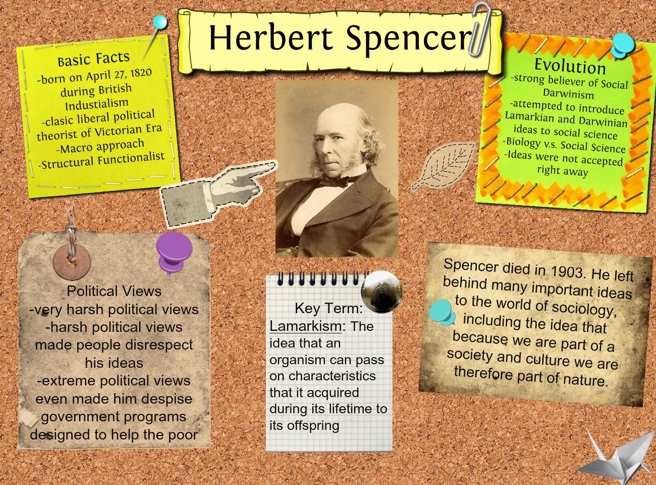 herbert spencer in his essay on the social organism