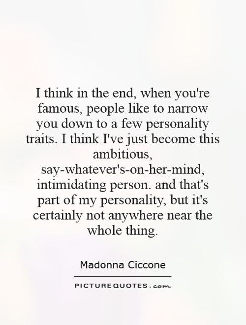 Quotes About Personality: Quotes About Personality Traits. QuotesGram
