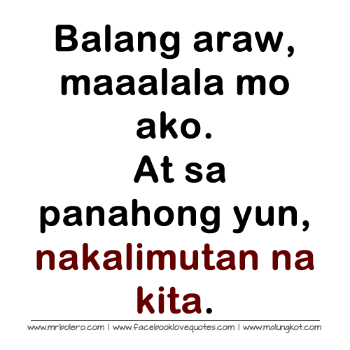 Quotes About Love Tagalog Patama. QuotesGram