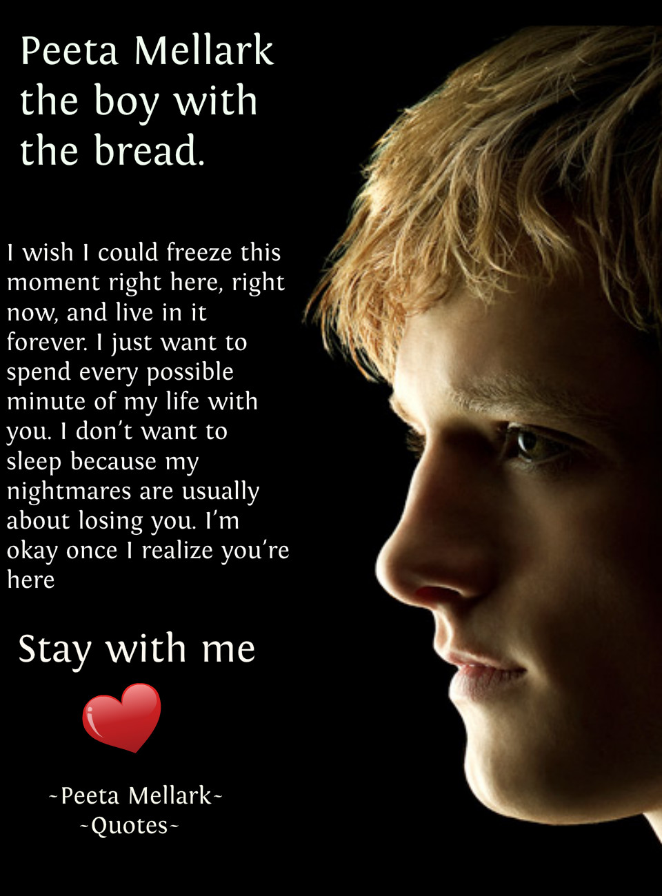 Peeta And Katniss Love Quotes. QuotesGram Quotes From The Hunger Games Katniss