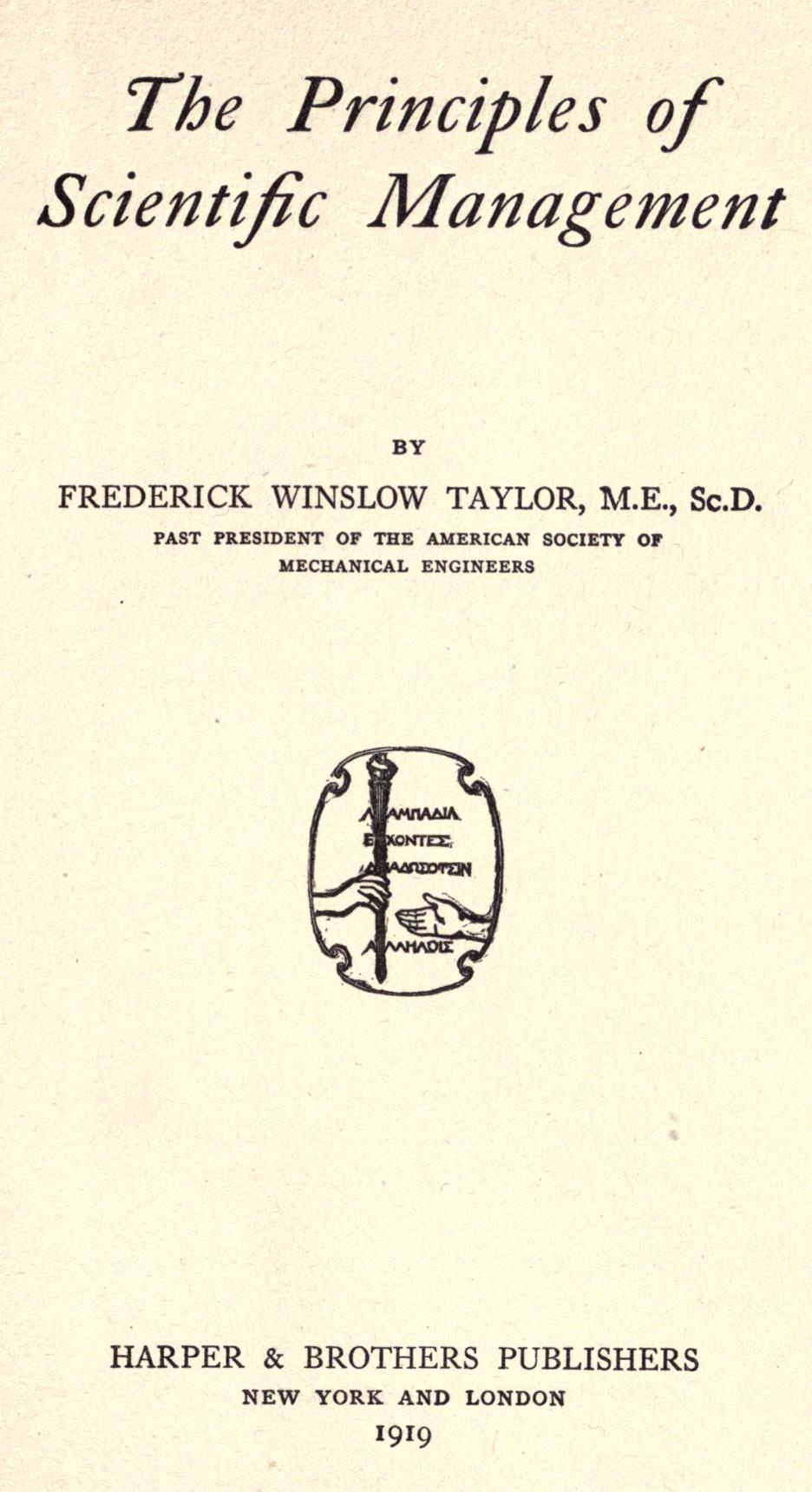 principles of frederick w taylor essay Ford vs taylor henry ford &amp frederick w taylor: a comparison of methods and principles early life ford's early life henry ford was.