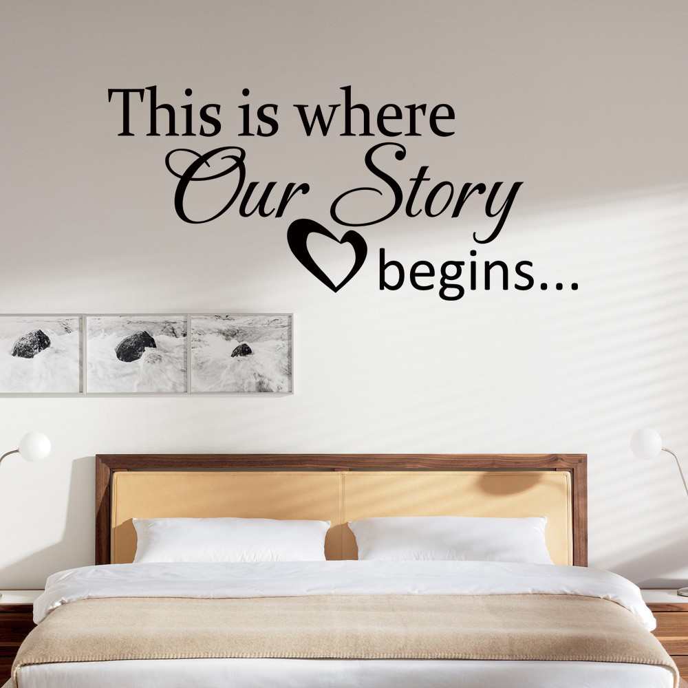 Our story begins love quotes quotesgram for Decoration quotes sayings
