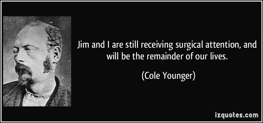 cole younger essay Free sample essay on belle starr jim reed cole pearl younger refused to identify 7 the baby's father, and so then belle refused to have to child around.
