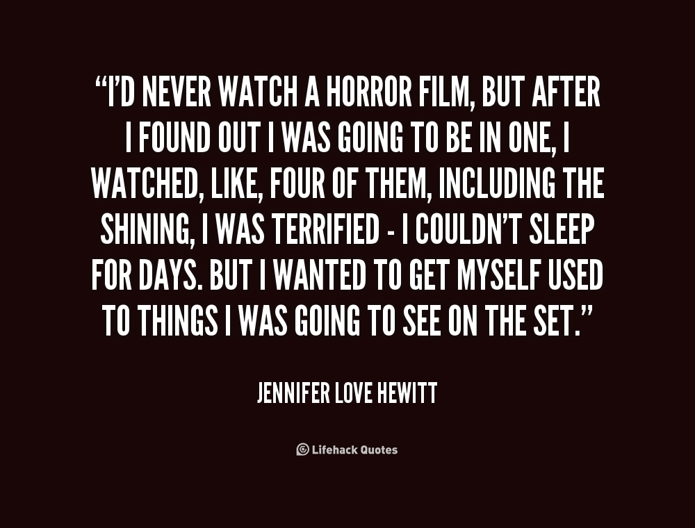 Horror Movie Love Quotes. QuotesGram