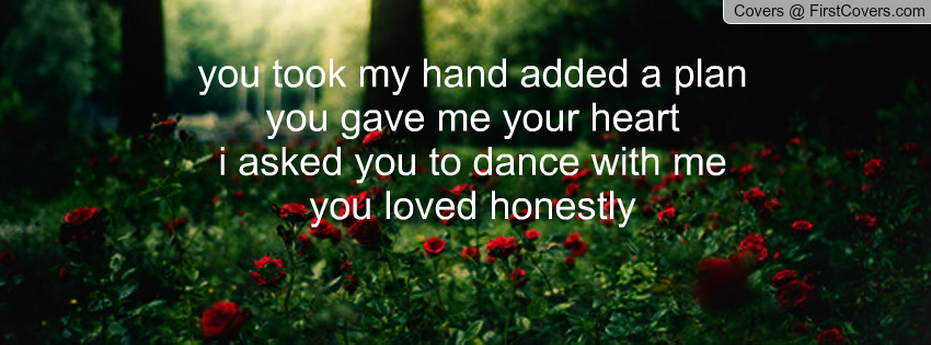 you took my hand: