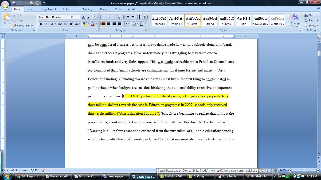 in an essay format