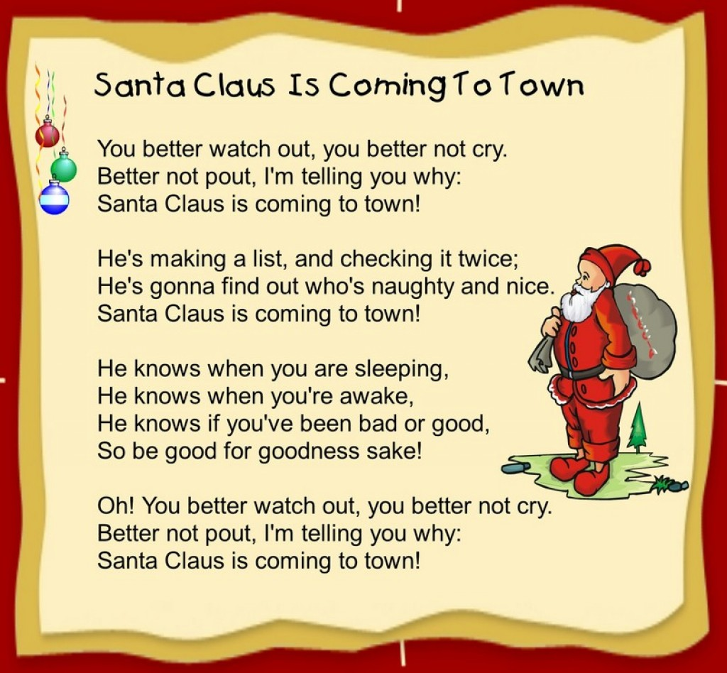 It's just a graphic of Gutsy Children's Christmas Songs Lyrics Printable