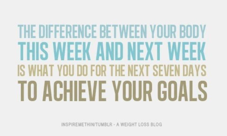 weight loss goal setting quotes