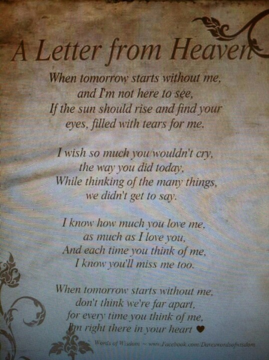 Quotes About Parents Love And Support Letters From Heaven Qu...
