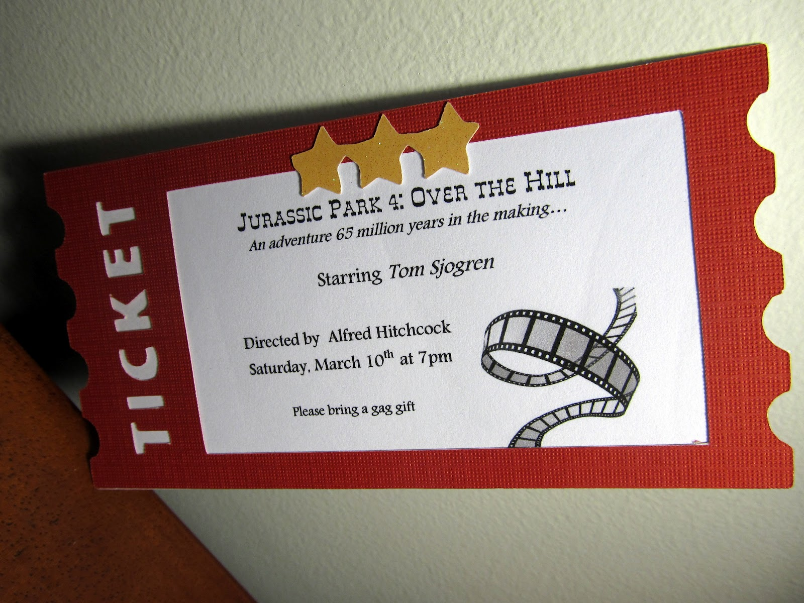 Ticket movie quotes quotesgram for Film premiere invitation template