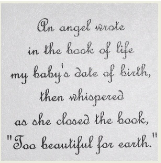 Baby Poems And Quotes: Baby Loss Poems And Quotes. QuotesGram
