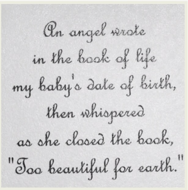 Baby Loss Poems And Quotes. QuotesGram