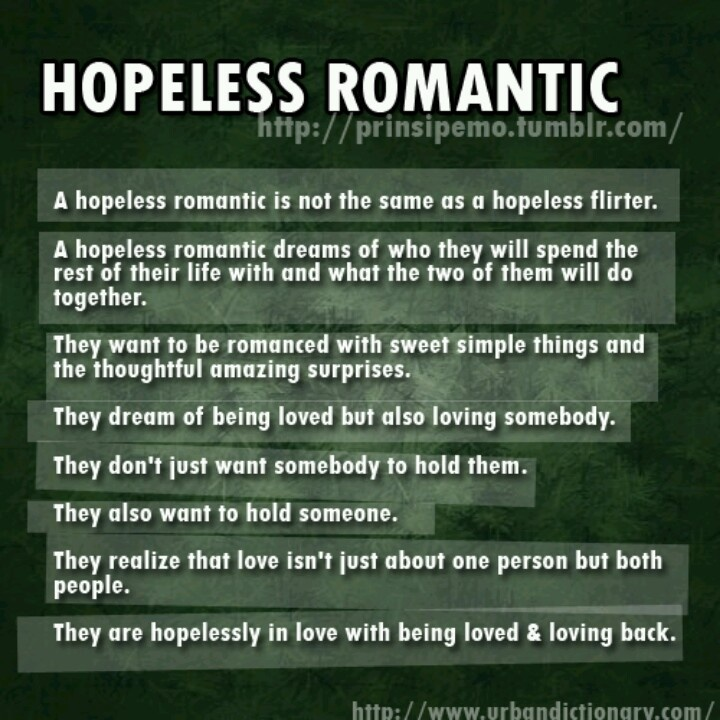 Hopeless romantic dating site