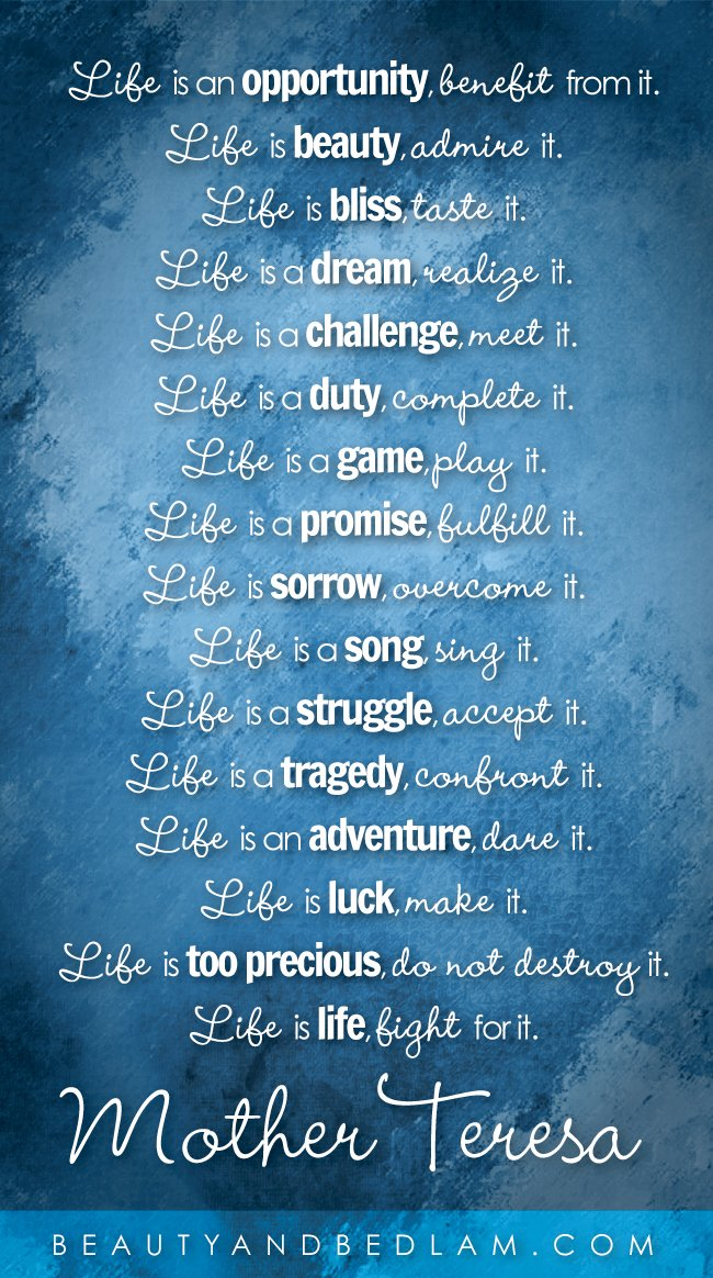 Mother Teresa Quotes And Poems. QuotesGram