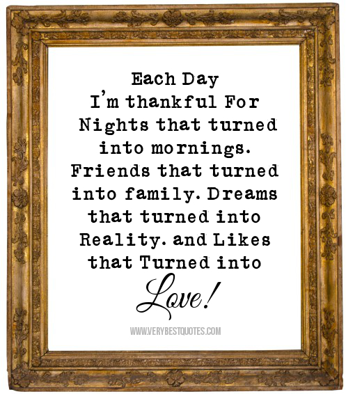 Quotes About Friends Turned Family : Thankful for family quotes quotesgram