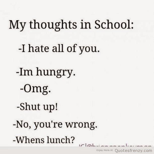 Funny Quotes School: I Hate School Quotes. QuotesGram