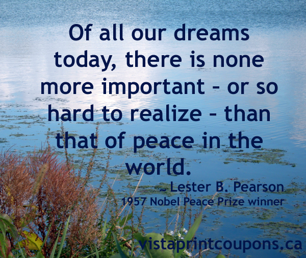 Quotes About World Peace Day: Peace Quotes By Famous People. QuotesGram