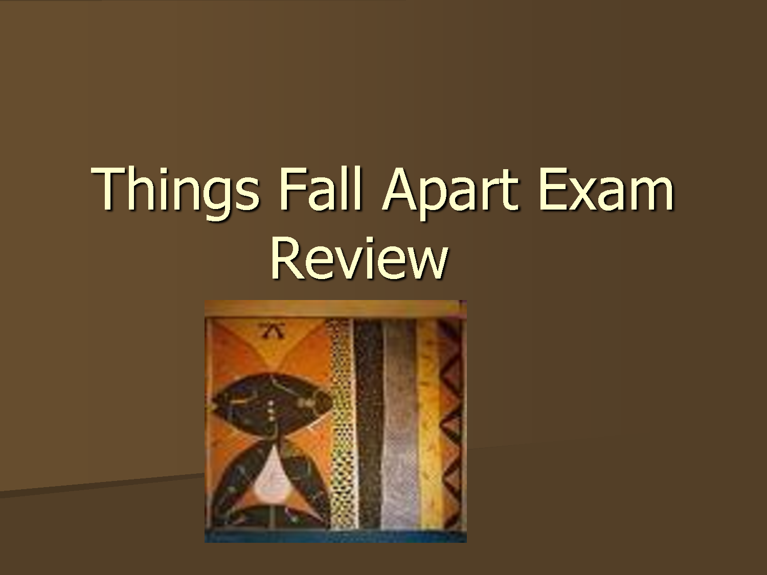 term papers on things fall apart Essay things fall apart by chinua achebe a) describe in detail your  impression of okonkwo's character having read part one of the novel b) what is.