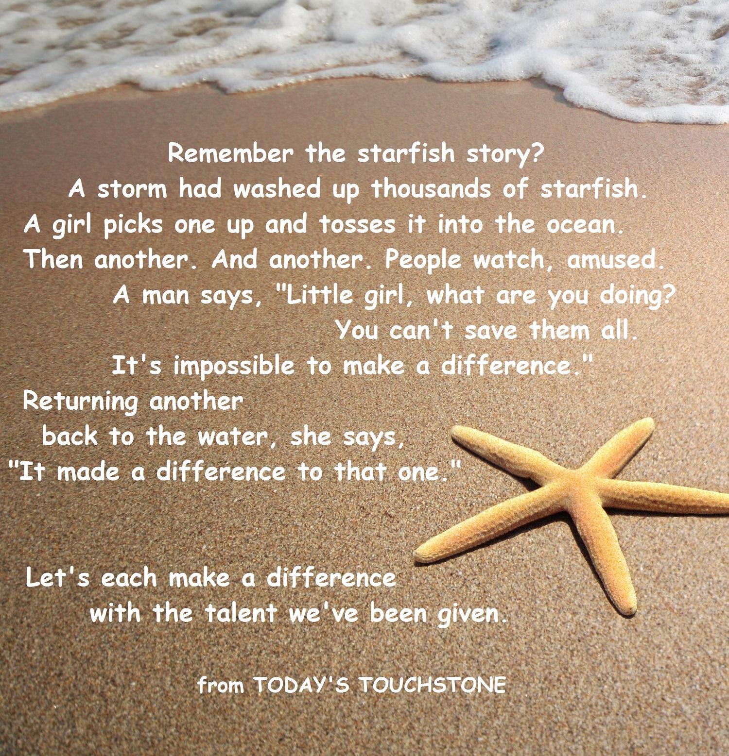 Starfish Quotes. QuotesGram