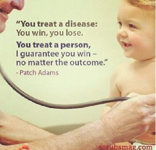 patch adams doctor patient relationship influences