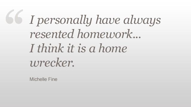 Studies on too much homework