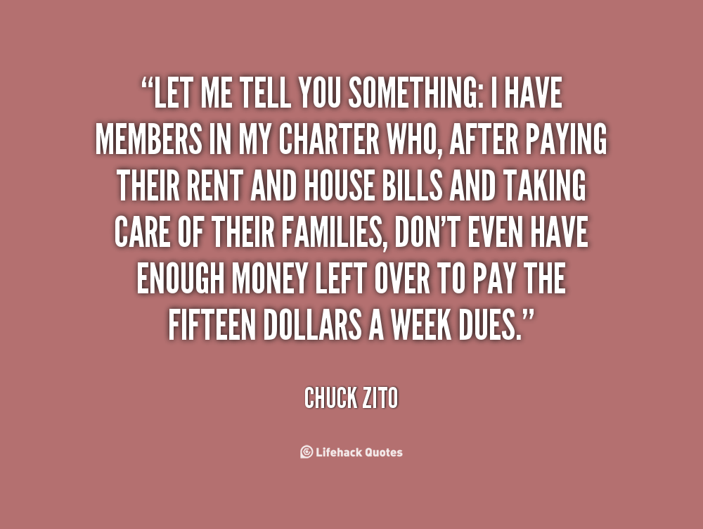 Dont Pay My Bills You Dont Tell Me Quotes. QuotesGram