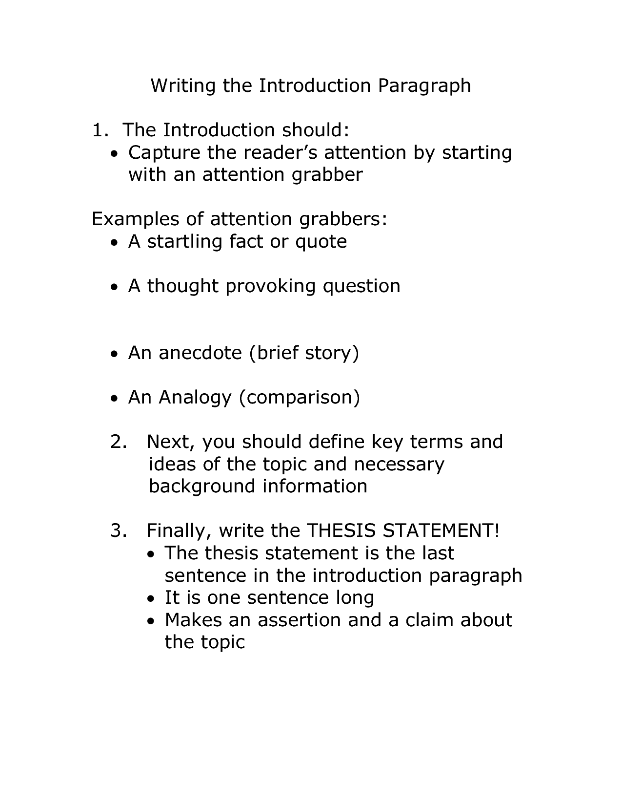 introduction to an argumentative essay sample introduction