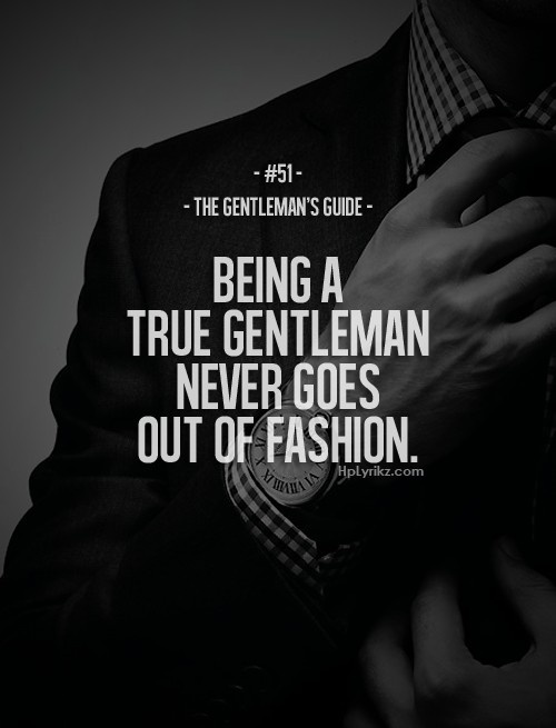 What Does It Mean To Be A Gentleman?