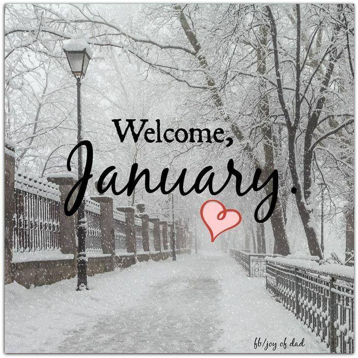 Для, картинка январь с надписью на английском