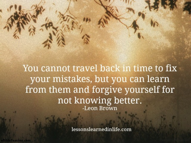 What does the Bible say about forgiving yourself / self ...