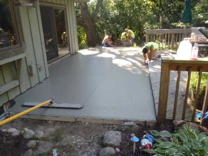 Pouring Concrete Es Esgram, How To Pour Cement Patio