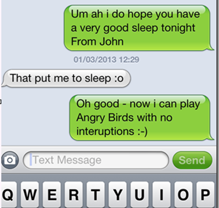 Goodnight text to my girlfriend