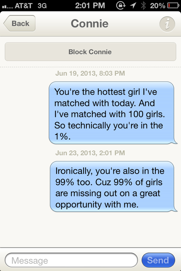 Funny first online dating messages