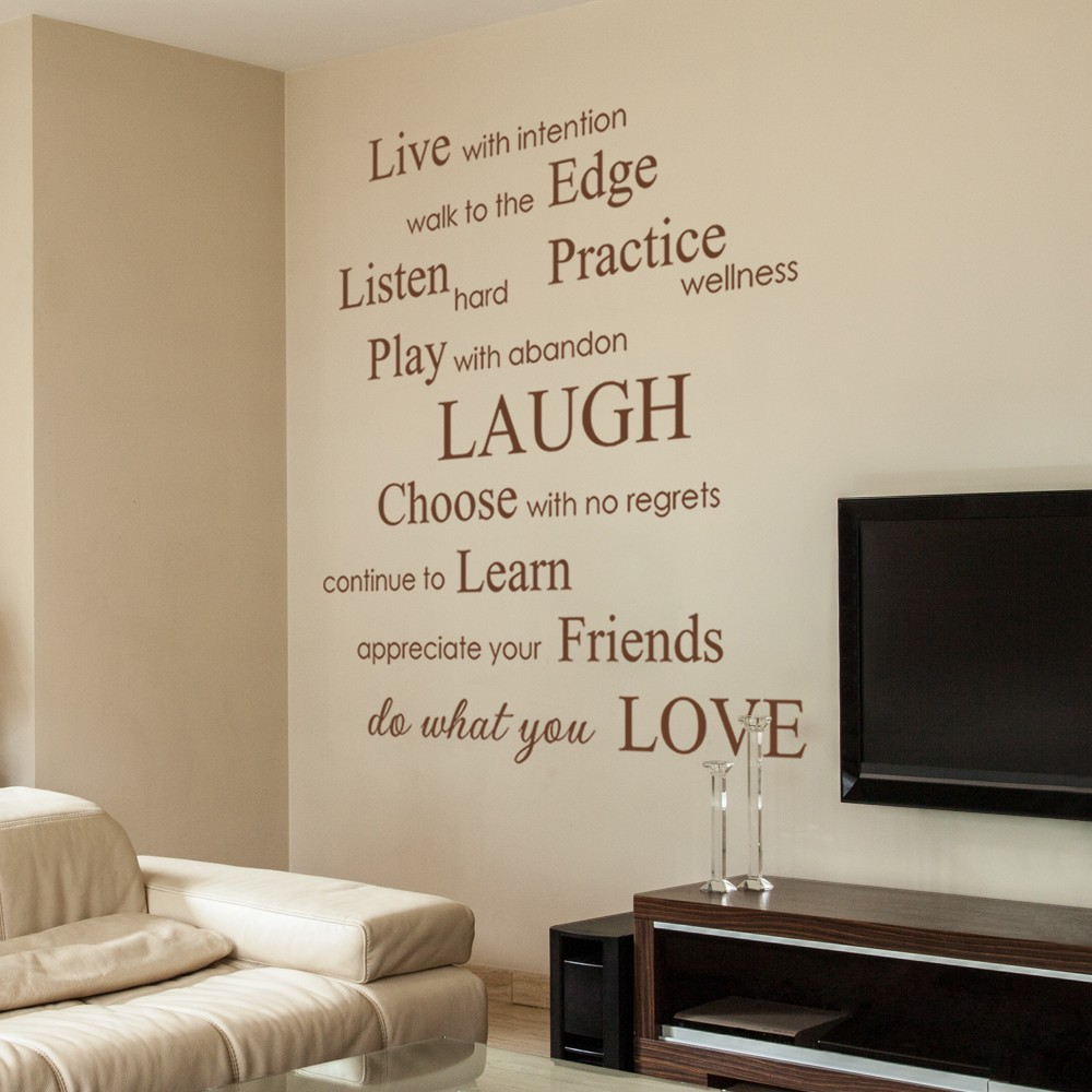 living room wall sayings inspirational promotion quotes quotesgram 15462