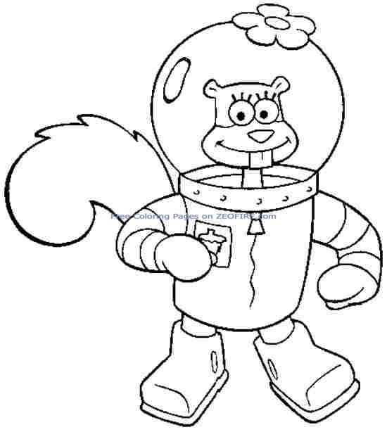 click the spongebob and sandy cheeks coloring pages to view, printable coloring