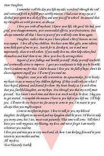 letter to my daughter from mom informatin for letter