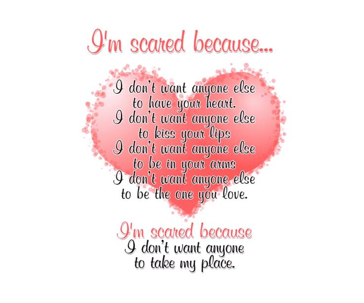 Scared of losing someone