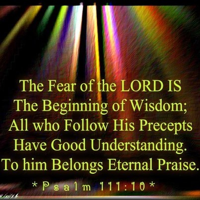 importance of fear in the lord of Introduction were it not for the superscription to this psalm, psalm 34 could be read as a beautiful response of praise and instruction based upon some unknown.
