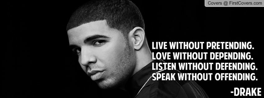 rapper drake quotes timeline covers quotesgram