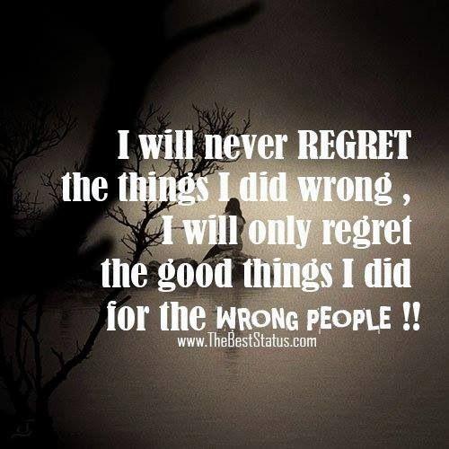 I Regret Tattoo Quotes Quotesgram: Deep Regret Quotes. QuotesGram
