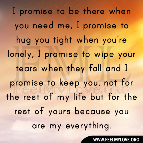Miss U Quote For Him: I Promise You Quotes. QuotesGram