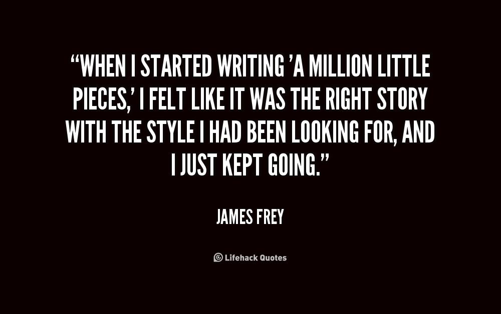 a million little pieces essay A million little pieces book summary & chapter summaries of a million little pieces novel.