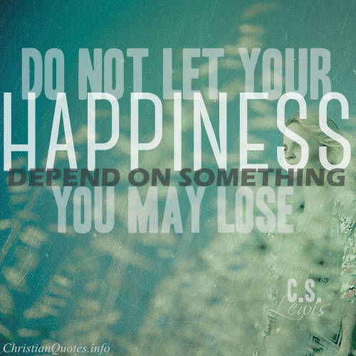 cs lewis essay on happiness We have no right to happiness according to cs lewis does this mean that we shouldn't be happy at all does this mean that we.