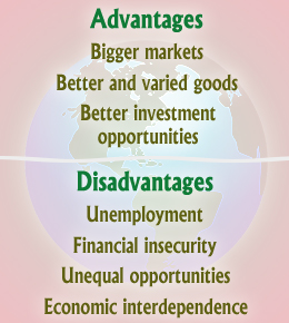 advantages and disadvantages of foreign trade Why do countries trade  the advantages of trade  trade can also bring some disadvantages, including: trade can lead to over-specialisation, with workers at .