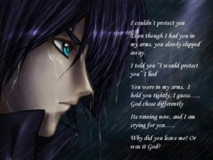 sad anime quotes from guys quotesgram