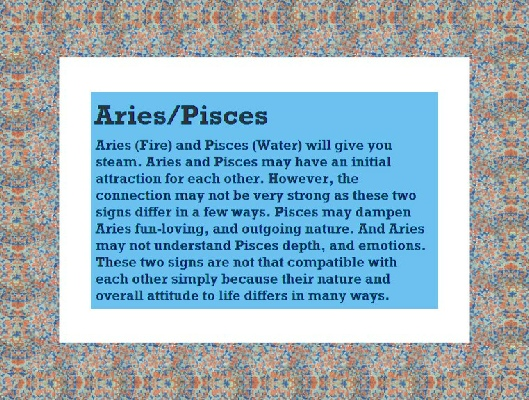 aries and pisces working relationship communications