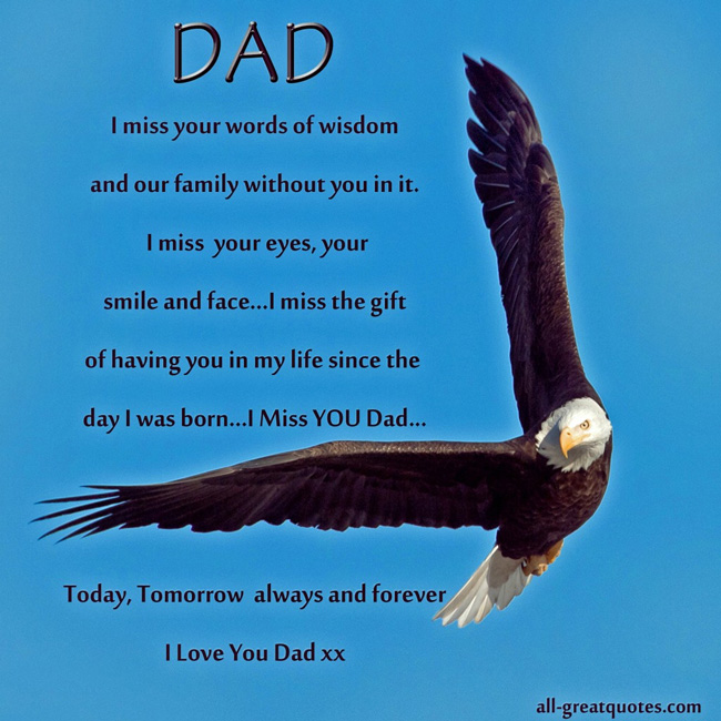 My Dad Dads And Father In Memory Of: Dad Memorial Quotes Funeral. QuotesGram